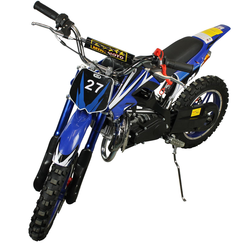 Super Mini Moto Cross 49cc Aro10 0km Tmc4917 Ar Azul